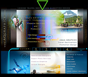 Leisure Travel Vacation WEB Design - Graphics Services