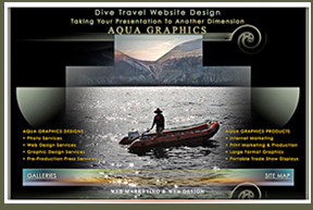 •Underwater Photos Web Design •Expert Photo-Aquatic Graphics Services •Creative WEB Designers Specializing in Dive Operations WEBSITE Promotion.