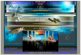 Underwater Images and Design for Website..
