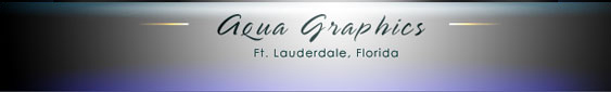 Aqua Graphics Photography and Design, Ft. Lauderdale Florida USA.