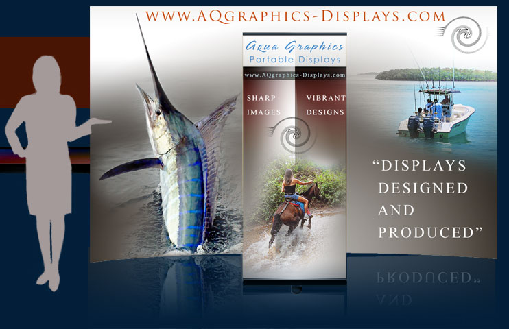 TRAVEL SHOW GRAPHICS..Portable Trade Show Displays-Designed & Produced