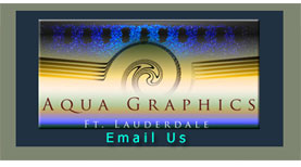 Aqua Graphics Ft. Lauderdale Creative Design and Photo Services.