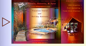 Jacuzzi and Spa Resort WEB Marketing Graphics Services.