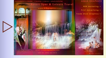 Unique Spas and Refined Leisure Travel Marketing Design Services.