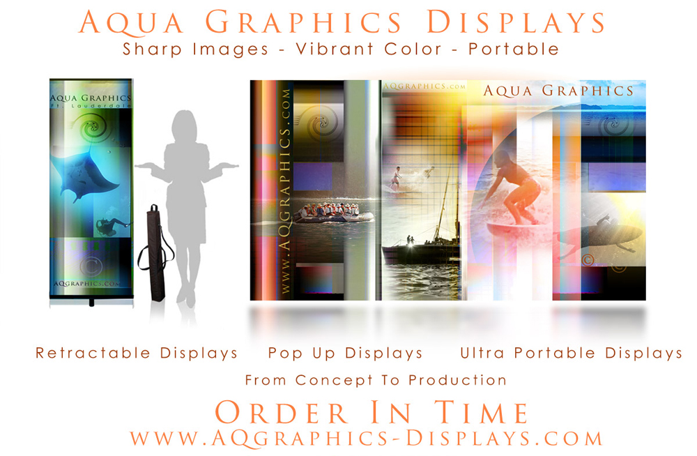 PORTABLE Trade Show displays.. LARGE GRAPHICS-Ultra Portable.
