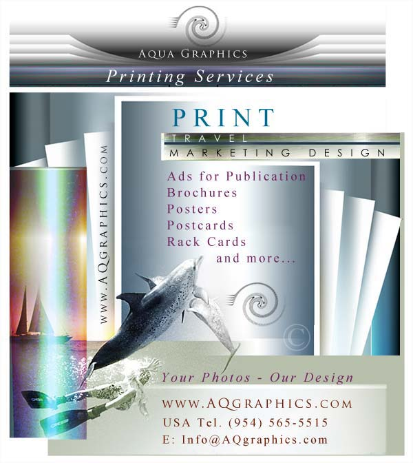 Sailing Charter Print Marketing Design Services