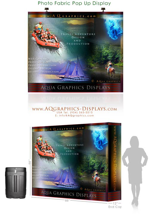 PORTABLE Trade Show displays.. LARGE GRAPHICS Ultra-Portable.