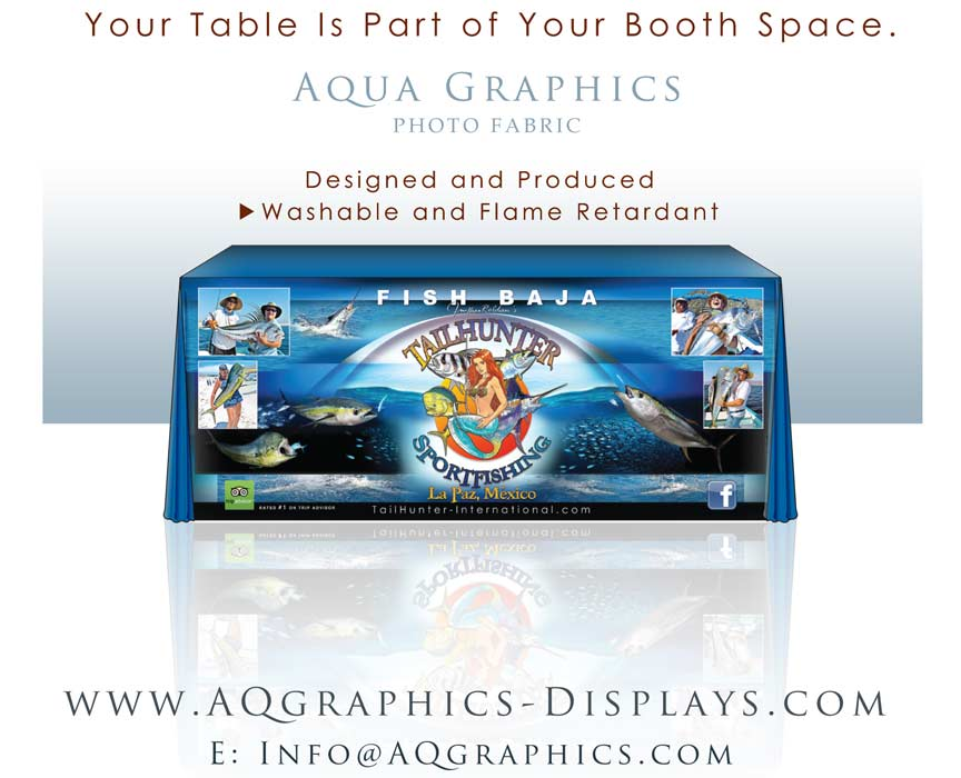 Photographic Table Cover Display